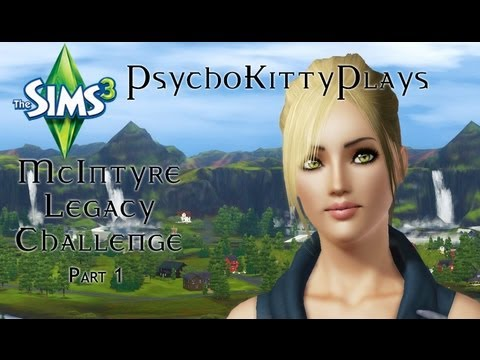 The Sims 3: Legacy Challenge Part 1. Meet Ainsley McIntyre.