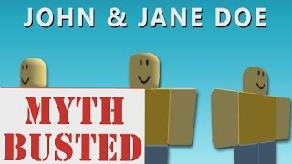 JOHN AND JANE DOE AREN'T HACKERS! (This Roblox Forum Post Proves It)