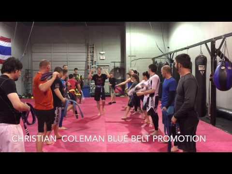 Christian Coleman Blue Belt Promotion
