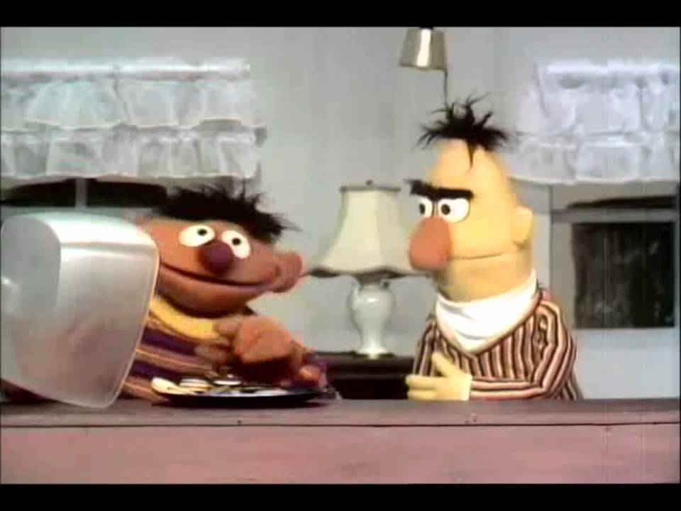 Sesame Street Ernie And Bert Before And After Cookies 1969