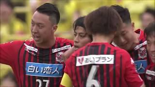 右サイドでのパス交換からゴール前に送られたクロスボールを宮吉 拓実(...