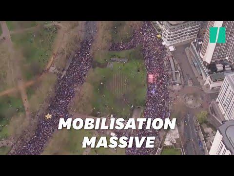 À Londres, une foule monstre réclame un nouveau référendum