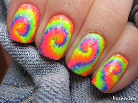 Image result for tie dye nails