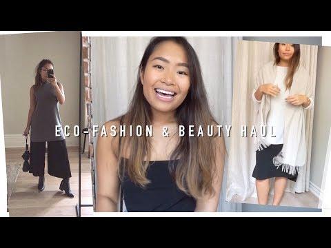 Sustainable Fashion & Eco-Beauty Haul (EILEEN FISHER, BluBoho, Plume, Alima Pure, etc) | inspiroue
