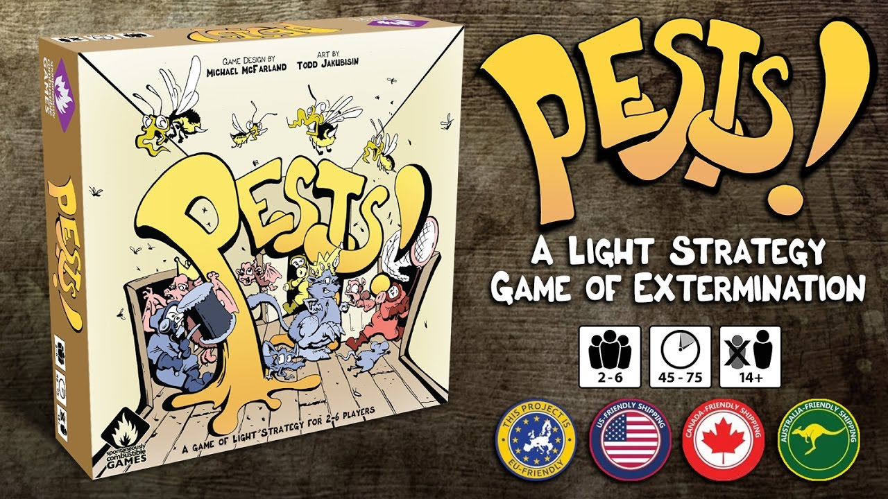 Pests! A light strategy board game for 2-6 players