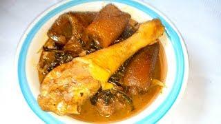 Efere Ikpong, Offe Ede or Cocoyam Soup