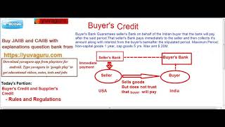 JAIIB CAIIB BUYER'S CREDIT AND SUPPLIER'S CREDIT MEANING BY VISHAL MANTRI 9960560404 FREE