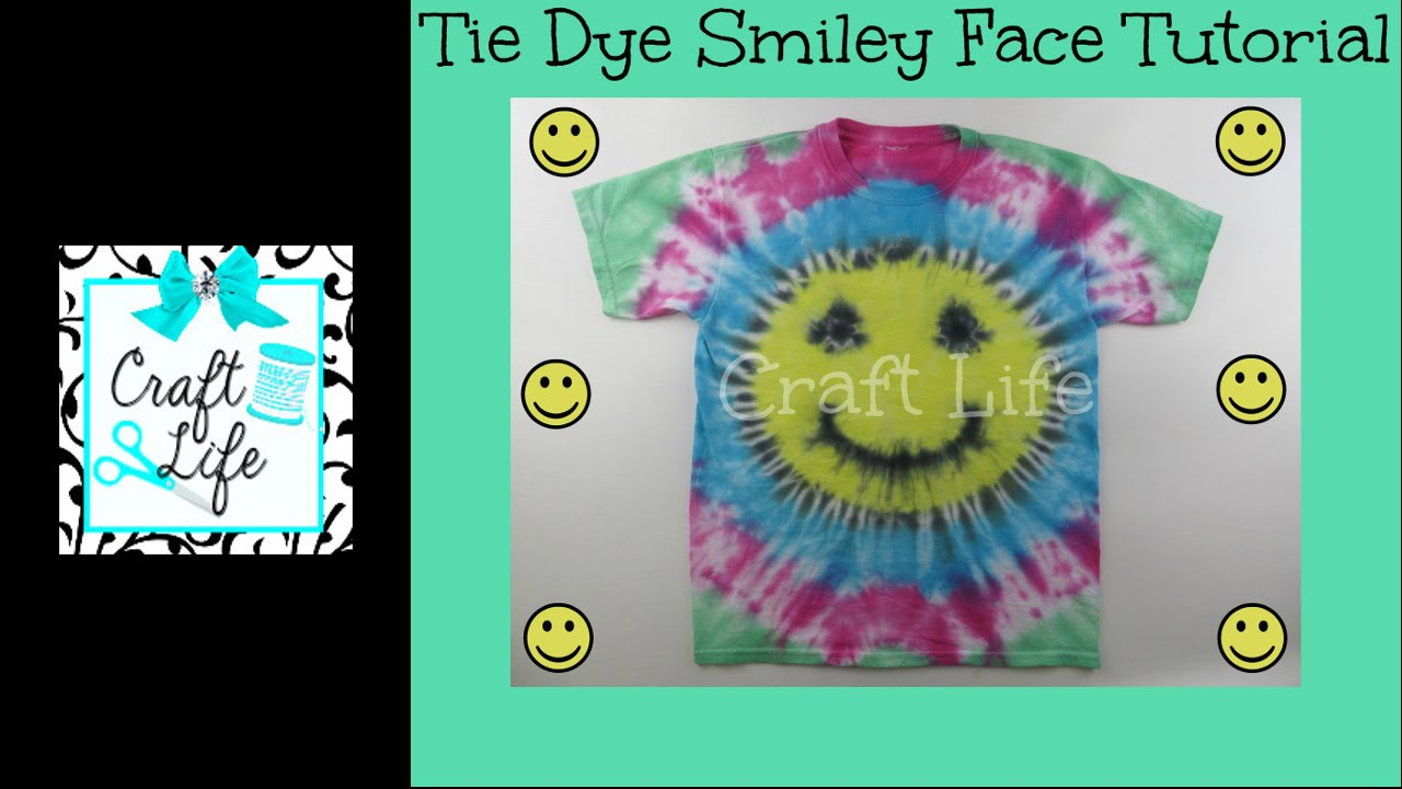 Craft Life Jacy And Kacy Diy Smiley Face Tie Dye Tutorial Youtube