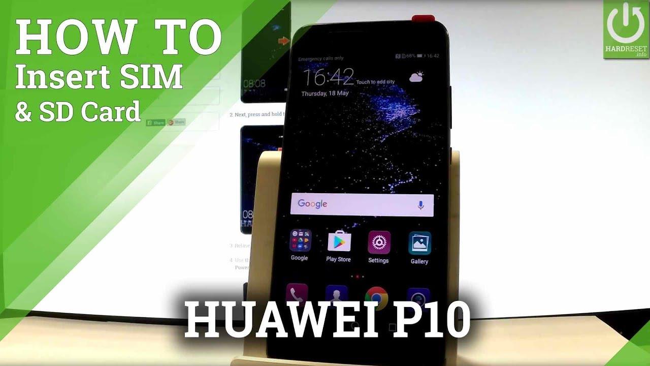 Huawei P10 Sd Karte.How To Insert Sim Sd In Huawei P10 Install Nano Sim Sd Card