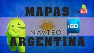 Mapas Argentina IGO Primo 2.4,IGO 8,Navteq Q2 2014,poi,Youtube,Mega,Android,WinCE.
