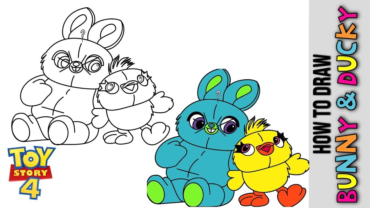 Bunny Toy Story 4 Coloring Pages - Creative Hobby Place