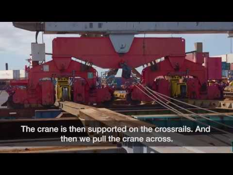 How it works: Ports of Auckland's giant container cranes shifted to prepare for automation