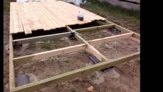Смотреть видео как построить сарай без фундамента