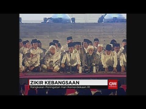 Tonton Siaran Live Zikir Kebangsaan di Istana Negara Bersama Jokowi dan Para Ulama