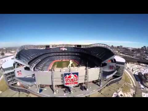 Flying over mile high stadium. Gopro Blade 350 QX