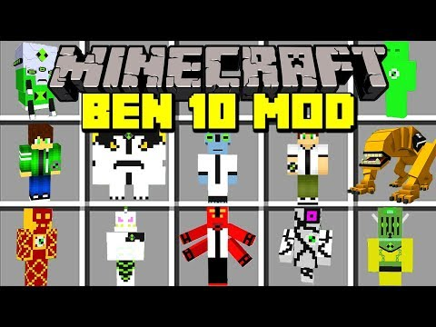 Minecraft BEN 10 ULTIMATE ALIEN MOD! | TRANSFORM INTO NEW ALIENS, & MORE! | Modded Mini-Game