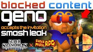 Smash Ultimate LEAK: Geno CATCHES The Invitation! - LEAK SPEAK!