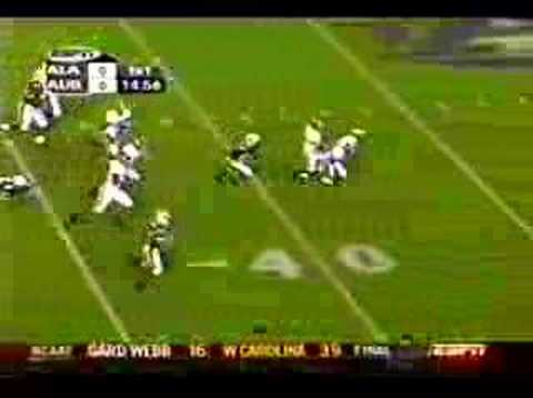Auburn vs Alabama Carnell Williams TD 1st Play