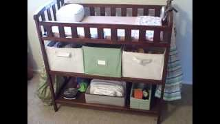Our Cloth Diaper Stash- Changing Table Set-up And Tour