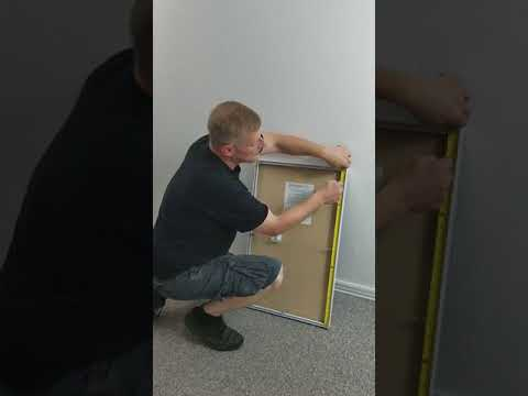 How to hang a metal framed rayne mirror