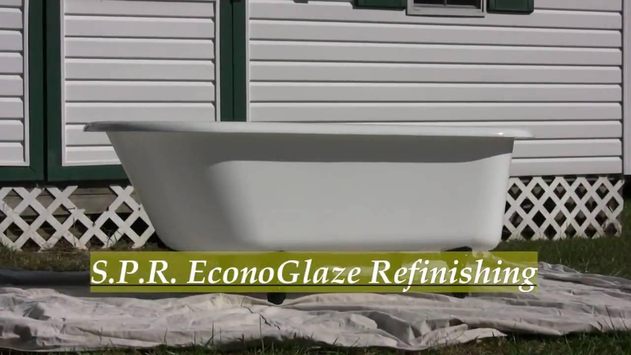 SPR Antique Claw Foot Bathtub Exterior Refinish Interior NO - Clawfoot tub restoration kit