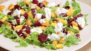 Салат из свеклы и хурмы. Рецепт от Всегда Вкусно.