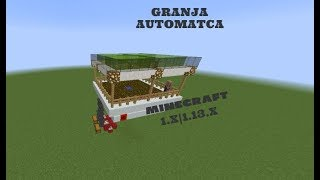 Minecraft 1.x| Como hacer una granja de trigo automática|Wheat farm in minecraft java edition