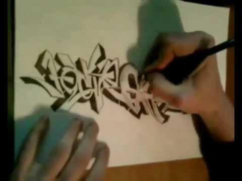 Cmo dibujar graffiti tipo de letra Parte 1  TUTORIAL GRAFFITI
