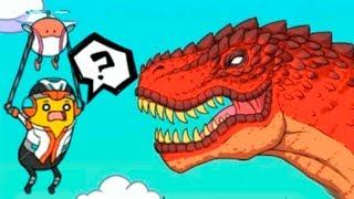 Путешествие веселого банана - Убегаем от динозавра в BANATOON2 Jurassic World