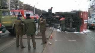 Авария с участием пожарной машины в Минске