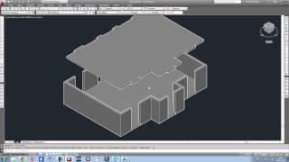 Apprendre Autocad en 1h. Tutoriel réalisation Maison 3D