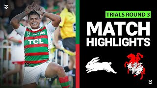 Dragons v Rabbitohs Match Highlights | Pre-Season Trials Round 3 | NRL