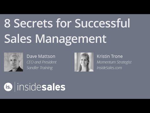 8 Secrets For Successful Sales Management