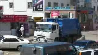 Singing garbage truck in Mongolia