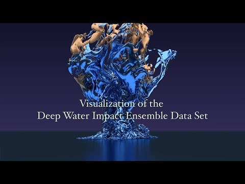 Visualization of the Deep Water Impact Ensemble Data Set