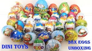 Мега распаковка киндеров сюрприз 38 шт! - видео распаковка шоколадных яиц на русском языке