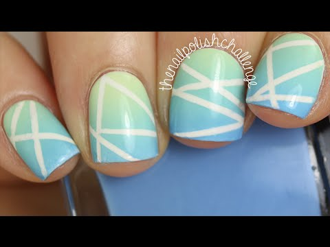 gradient-laser-nail-art-using-striping-tape-||-the-nail-polish-challenge
