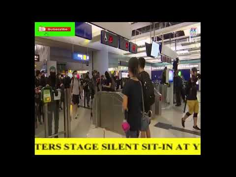hong-kong protesters stage silent sit-in at yuen long mtr-station       RK NEWS Live Stream