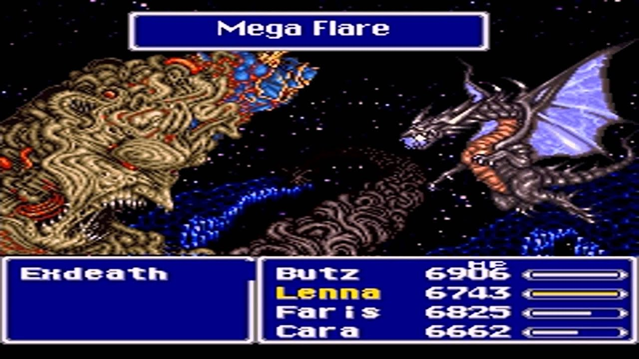final fantasy v final boss battle exdeath snes youtube