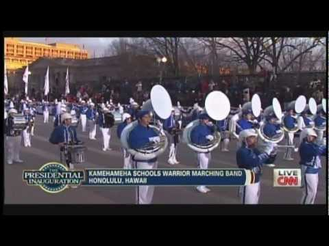 Kamehameha Schools Warrior Marching Band President Obama Inaugural Parade 2013