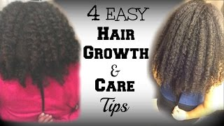 4 easy tips for natural hair growth care