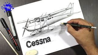 Como dibujar un avion Cessna l how to draw a Cessna plane