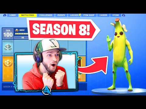 *NEW* SEASON 8 BATTLEPASS in Fortnite! (Tier 100 UNLOCKED)