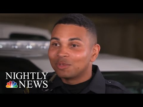 Former Marine Overcomes The Odds To Become A Police Officer | NBC Nightly News