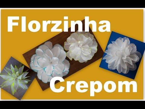 FLORZINHA DE PAPEL CREPOM - PASSO A PASSO