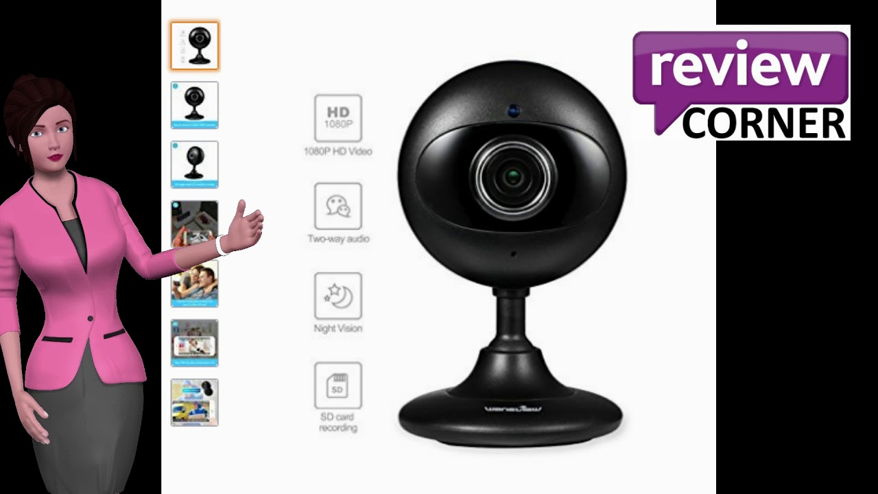 Wansview Wireless Security Camera, 1080P WiFi Home Indoor IP Surveillance  Camera with Night Vision