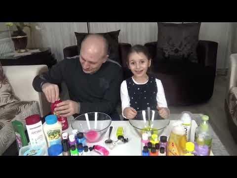 Pause Slime Challenge Sürpriz Malzemeli Slaym Prenses Lina | Funny Kids Video