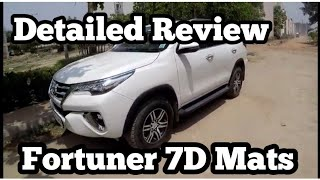 Toyota Fortuner 2019 Best 7D Mats Review | 7D Mats For Fortuner Cost