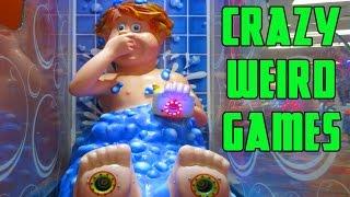STRANGE ARCADE GAMES & WEIRD JACKPOTS! - Unbelievable Wins On Crazy Games | Battle Arcade
