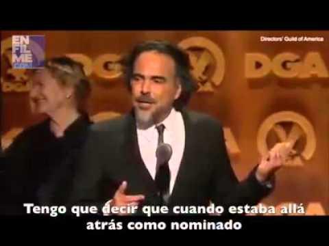 Alejandro G. Iñárritu recibe el Premio del Sindicato de Directores 2016 (Subtitulado)